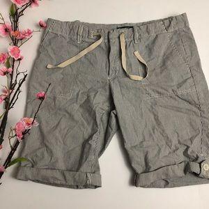 Eddie Bauer Pinstripe Blue & White Bermuda Shorts